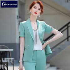 2020 summer new Korean professional blazer small suit woman two ...