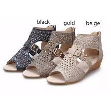 <b>Women Sandals</b> High Top <b>Hollow</b>-out Rhinestone <b>Roman</b> Flats Belt ...