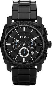 <b>Fossil</b> Men's Chronograph Machine Black Stainless Steel Bracelet ...