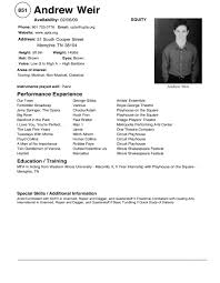 musical theatre resume template info theater resume theater resume examples musical theatre resume