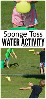 17 best ideas about teen summer activities summer sponge toss water activity