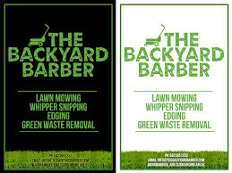 bold modern flyer design for the backyard barber by one day flyer design by one day graphics for the backyard barber flyer design 3937881