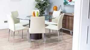 dining sets seater: dining table for  kitchen black glass rectangle  seater dining