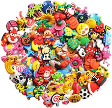 <b>100 Pcs PVC</b> Different Shoe Charms Fits for Shoes Decorations ...