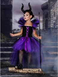Girls <b>Purple</b> & Black Maleficent Inspired <b>Halloween Tutu</b> Dress