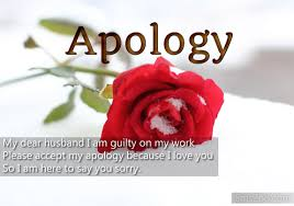 Apology Message To My Husband - Sorry Sms From Wife