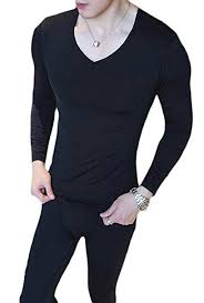 cfzsyyw <b>Men's Thermal Underwear Set</b> Plain Base Layer Top and ...