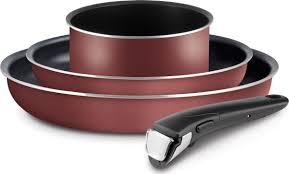 <b>Набор посуды Tefal</b> Ingenio RED сковороды 22/26, ковш 16 ...