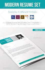 awesome resume cv templates    pixels commodern resume set