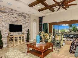 walls ceiling fan living room contemporary living room with box beam ceiling travertine tile floors