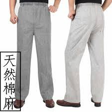 COCO 2020 MEN'S Wear <b>Summer Thin Linen</b> Trousers <b>Elastic</b> ...