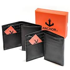 Anchor21 - <b>Trifold Genuine Leather</b> RFID <b>Men's</b> Wallet