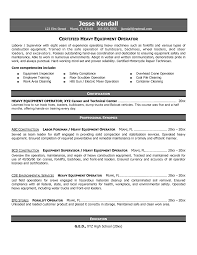 resume construction equipment operator apr a heavy resume professional resumes certified heavy equipment operator resume