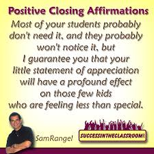 positive closing affirmations making students feel special as positive closing affirmatio