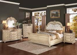 bedroom sets set gold white
