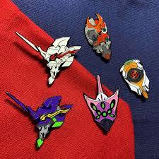 Anime EVANGELION Metal Brooch Pins <b>EVA 06</b> TEST TYPE Alloy ...