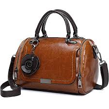 TOOGOO <b>Women Small Mini</b> Oil Wax <b>Flower Tote Handbag</b> Top ...