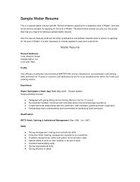 resume examples cover letter resume templates restaurant resume resume examples resume cover letter for restaurant server how to write a resume