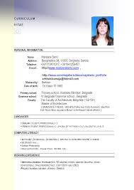 example of resume for job application in example of resume for job application in