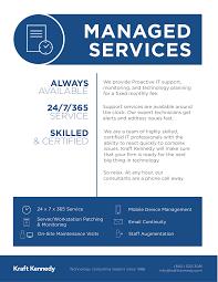 kk internal flyers kraft kennedy kraft kennedy managed services