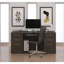 bestar embassy collection laminate double pedestal office desk bestar embassy corner desk