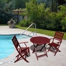 crossman piece outdoor bistro:  piece fsc certified wood round folding patio bistro furniture set