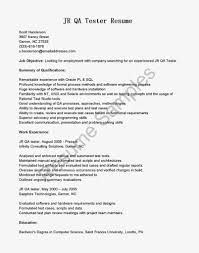 sample qa resume qtp experience resume builder sample qa resume qtp experience entry level qa tester resume example o resumebaking sample resume