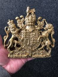 Royalist Polished Brass <b>Royal</b> Coat of Arms Sign Plaque <b>Royal</b> ...