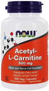 Now Foods Acetyl <b>L</b>-<b>Carnitine</b>, <b>500mg</b>, 100 Vegetarian Capsules ...