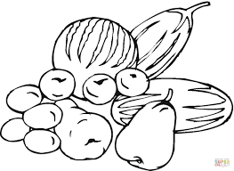 Small Picture Fruits and Vegetables coloring page Free Printable Coloring Pages