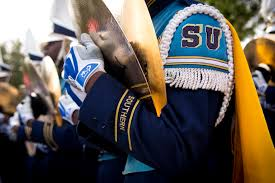 photo essay homecoming southern s human jukebox  the southern university ing band lines up for its to ace w mumford stadium