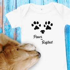 Paws and <b>Reflect</b> yoga inspired dog romper / one-piece / <b>baby</b> grow ...