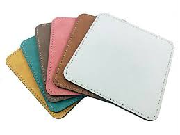<b>PU</b> Leather <b>Coasters</b> Sublimation Blanks Heat Press Printing ...