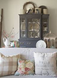 ideas china hutch decor pinterest: painted china cabinet love lots of great decorating ideas here postcards from