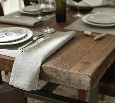 linen wood dining table set  griffin reclaimed wood fixed dining table o