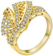 Alloet <b>Fashion</b> Women <b>Hollowed</b> Geometric Ring <b>Zircon</b> Knuckle ...