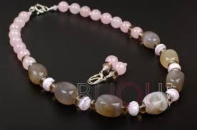 <b>Бусы</b> и серьги из натуральных камней Первоцвет (<b>розовый</b> ...
