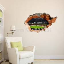 discount cool office wall art free shipping cool football field 3d art wall decals removable pvc art for office walls