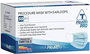 THINKA PROCEDURE <b>MASK</b> WITH EARLOOPS (<b>50pcs</b>), <b>Medical</b> ...