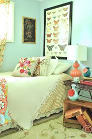 Bohemian Bedroom Decor Bedroom A Modern Bohemian Bedroom With Pastel Green And Cyan