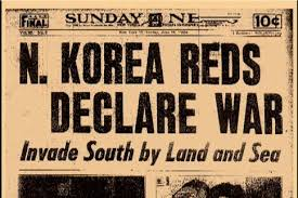 「The Korean War began on June 25, 1950, when communist North Korea invaded South Korea.」の画像検索結果