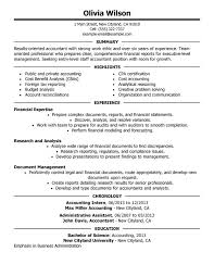 staff accountant resume sample examples of accounting resumes