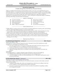 financial services targeted resume examples