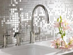 kitchen backsplash stainless steel tiles:  original stainless backsplashes mosaic sink sxjpgrendhgtvcom