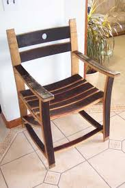 barrel stave chair or rocker arched napa valley wine barrel table