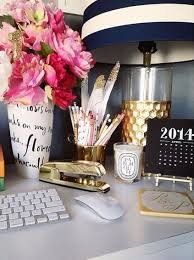dress up your desk navywhite stripes gold accents and pink flowers chic mint teal office