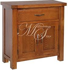 solid wood chunky dark oak compact small sideboard cupboard cabinet camberley oak 2 door