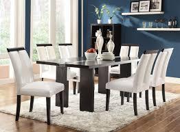 black and white dining table set: coaster   kenneth  piece black dining table white chairs set main image
