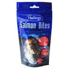 Hollings <b>Salmon Bites Dog</b> Treats 75g | Pets At Home