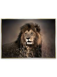 "<b>Репродукция</b> на холсте в <b>рамке</b> 60x80 см ""Золотой лев"" Styler ..."